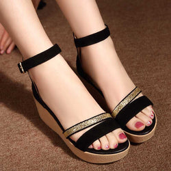 Thick Heel Summer Sandals - Head Turner Fashion