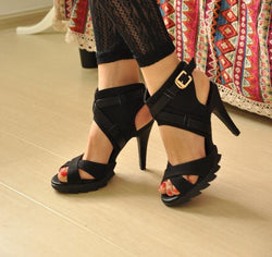 Buckle High heel shoes - Head Turner Fashion