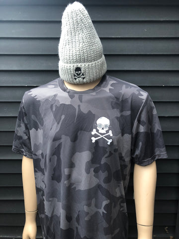 Men's Camo Athletic Shirt - Dark Grey
