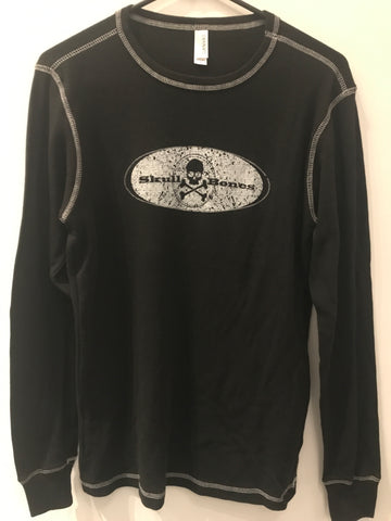 Canvas Long Sleeve Thermal Skull n Bones