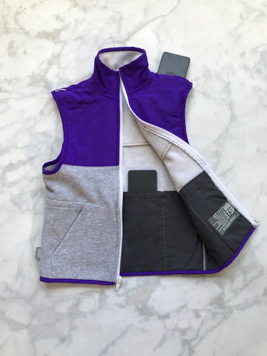 Purple / Light Grey Weighted Vest