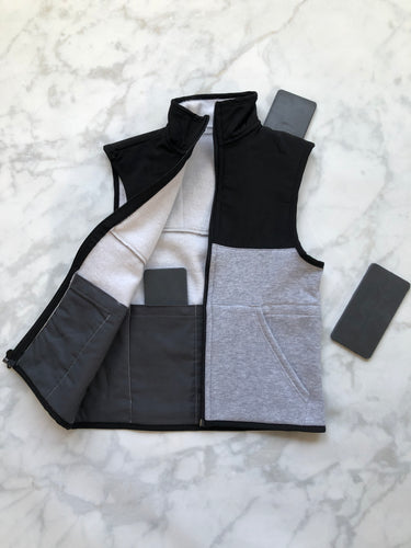 Black / Light Grey Weighted Vest