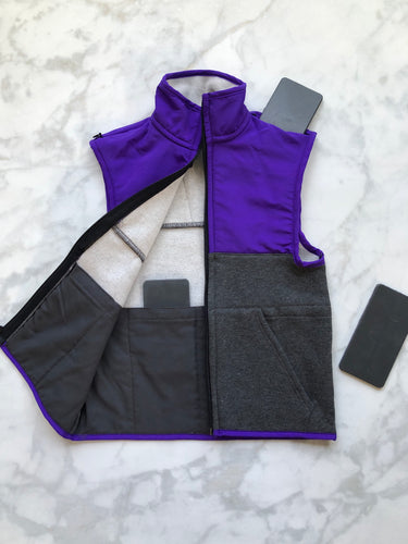 Purple / Dark Grey Weighted Vest