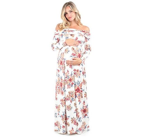 Amelia Off The Shoulder Floral Maxi Dress