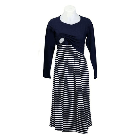 Miley Striped Nursing Dress