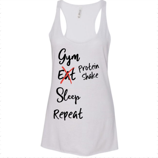 Gym.. Eat.. Sleep Tank - MyShoppingAddiction.co