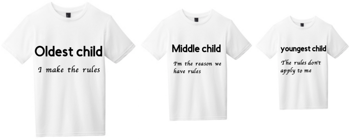 oldest middle youngest Youth Tees - MyShoppingAddiction.co