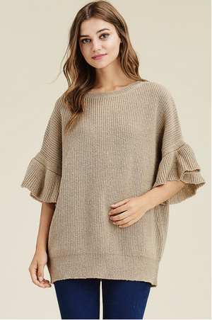 Brown sweater - MyShoppingAddiction.co