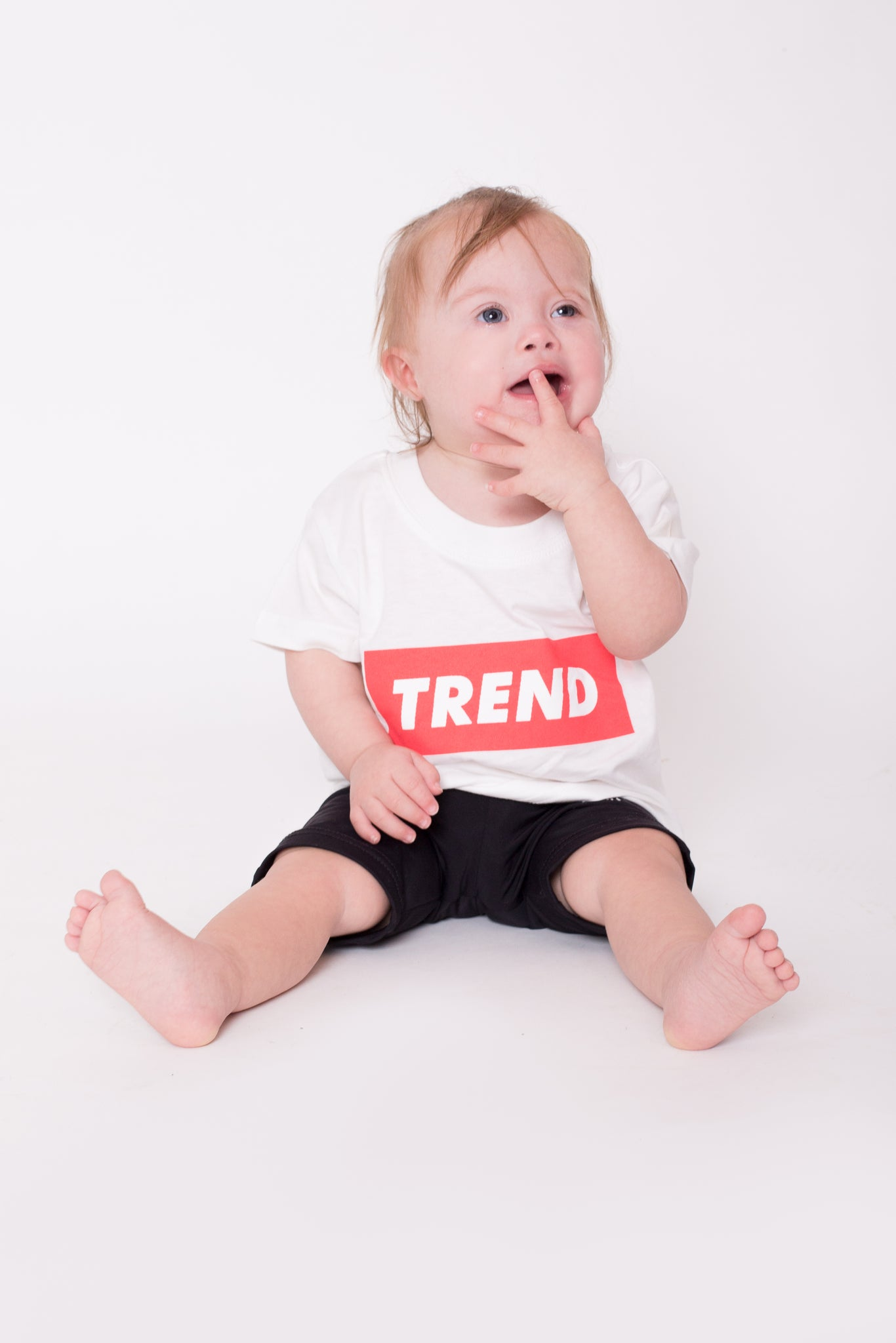 White & Red Trend Logo Tee