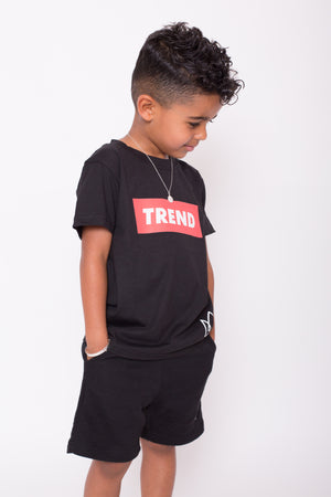 Black & Red Trend Logo Tee