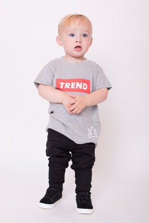 Grey & Red Trend Logo Tee