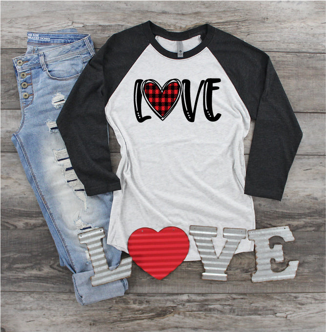 Love - Buffalo Plaid Heart