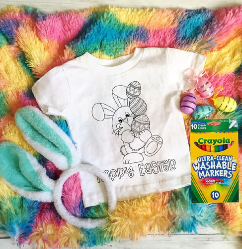 Kids Easter Coloring Shirt - SPECIAL!!!