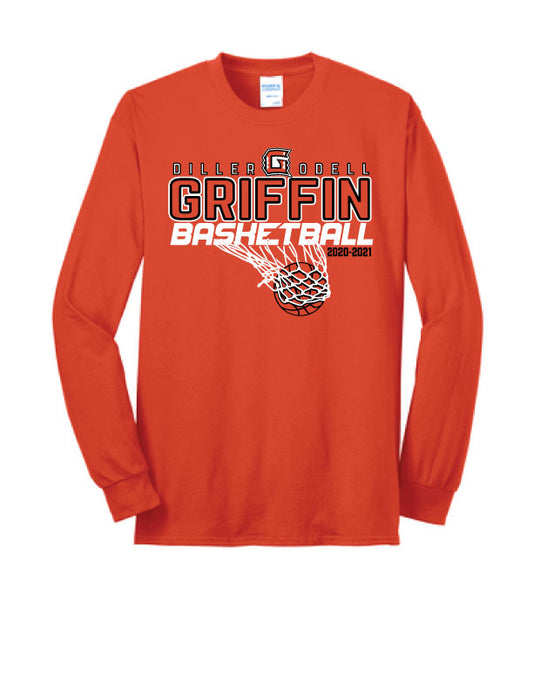 TALL - Griffin Basketball LONG SLEEVE Shirt-Port & Company