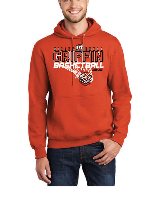 TALL - Griffin Basketball HOODIE -Port & Company