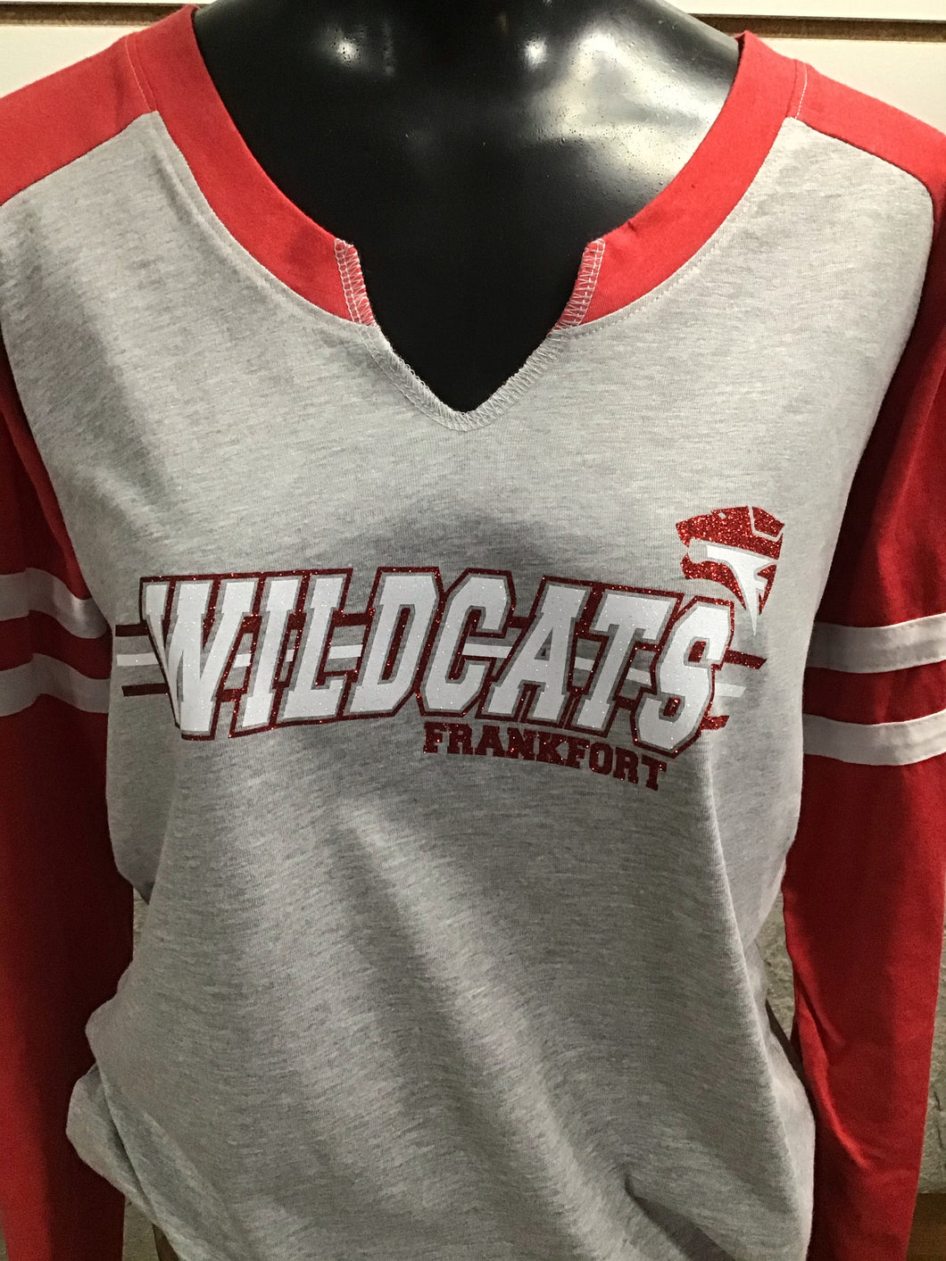 Frankfort Wildcats - Vneck Ladies Long Sleeve Shirt