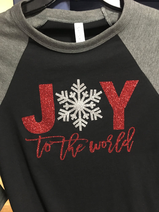 Joy To The World- Glitter Print