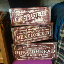 Wooden Christmas Crates