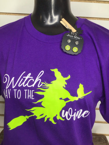 Witch Way To The Wine - Glitter