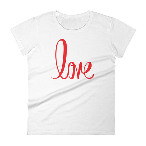 Red Love Women's short sleeve t-shirt