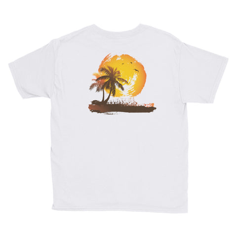 California Sunset Unisex Youth Short Sleeve T-Shirt - by The Gerber Daisy