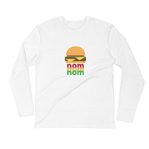 Nom Nom Nom Women's Long Sleeve Fitted T-shirt