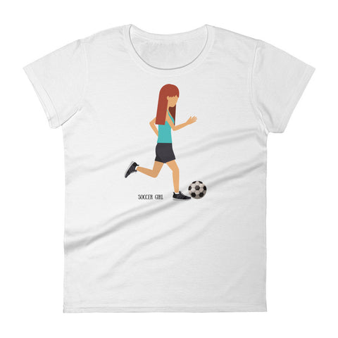 Soccer Girl Women's Slim Cut Short Sleeve T-shirt - by The Gerber Daisy