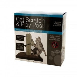 CAT SCRATCH AND PLAY POST TOY