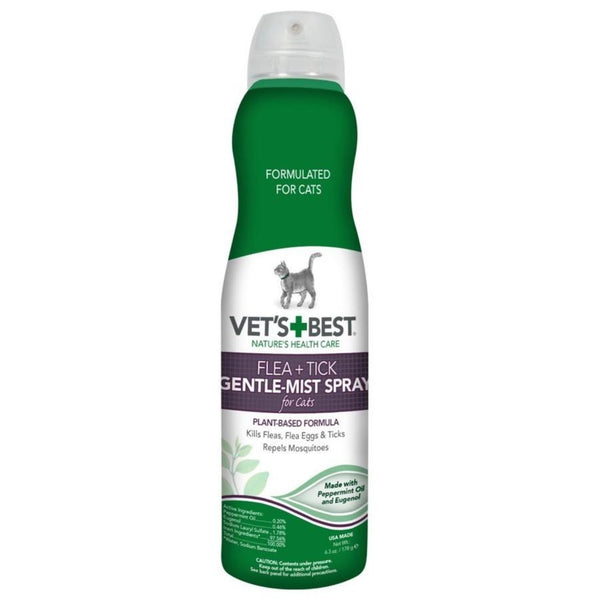 NATURAL FLEA & TICK GENTLE-MIST SPRAY FOR CATS