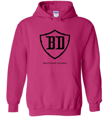 Pull Over Hoodie - Black Brother Down Badge Full Chest