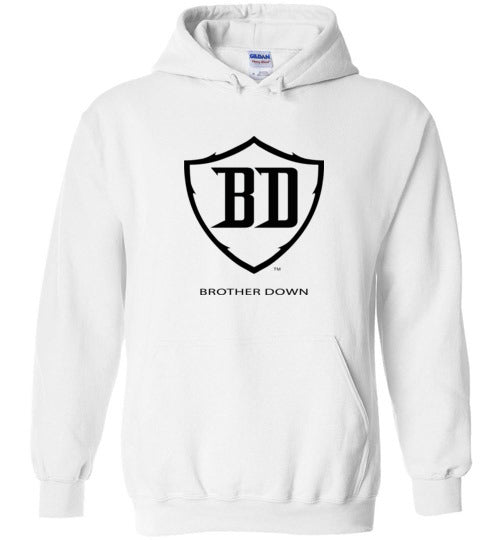 Brother Down Shield Pull Over Hoodie - Black Graphics