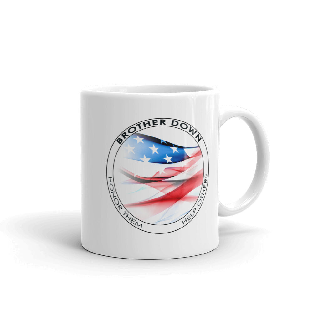 Brother Down Circle Flag Mug