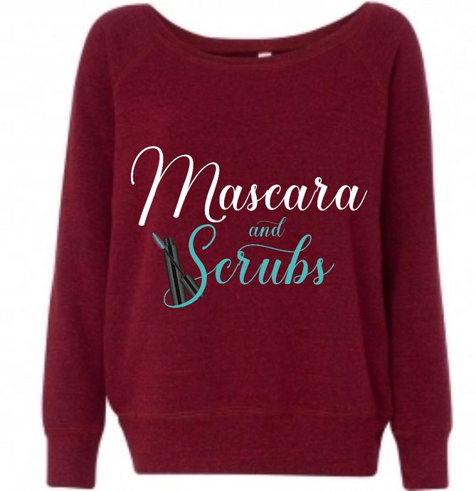 Mascara and Scrubs Cardinal Sweatshirt