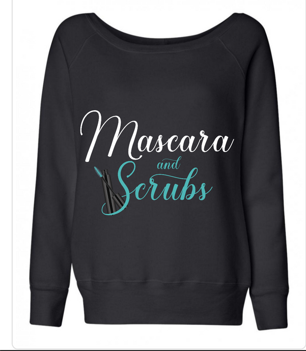 Mascara and Scrubs Black  Sweatshirt