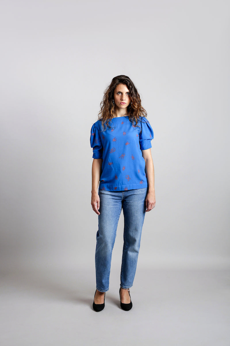 Jellyfish Structured Sleeves T-Shirt