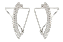 Triangle Crown Earring - Silver