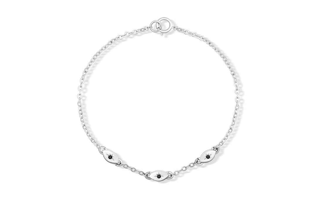 All Eyes On You Bracelet - Silver