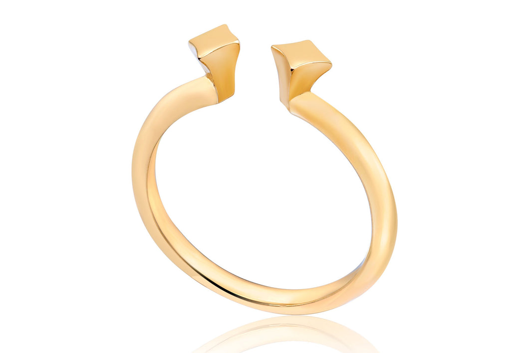 Double spot ring - Gold Plated