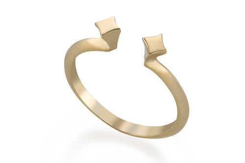Double spot ring - Solid Gold