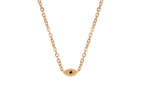 My guarding eye necklace - gold plated