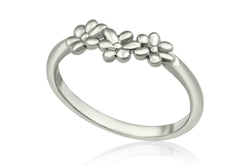 Hippie flower ring - Silver