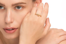 Open horn ring - Solid Gold