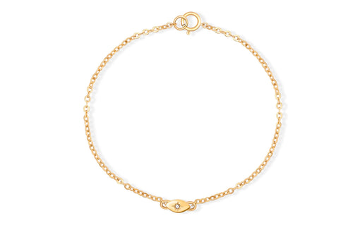 My Guarding Eye Bracelet - Solid Gold with white diamond