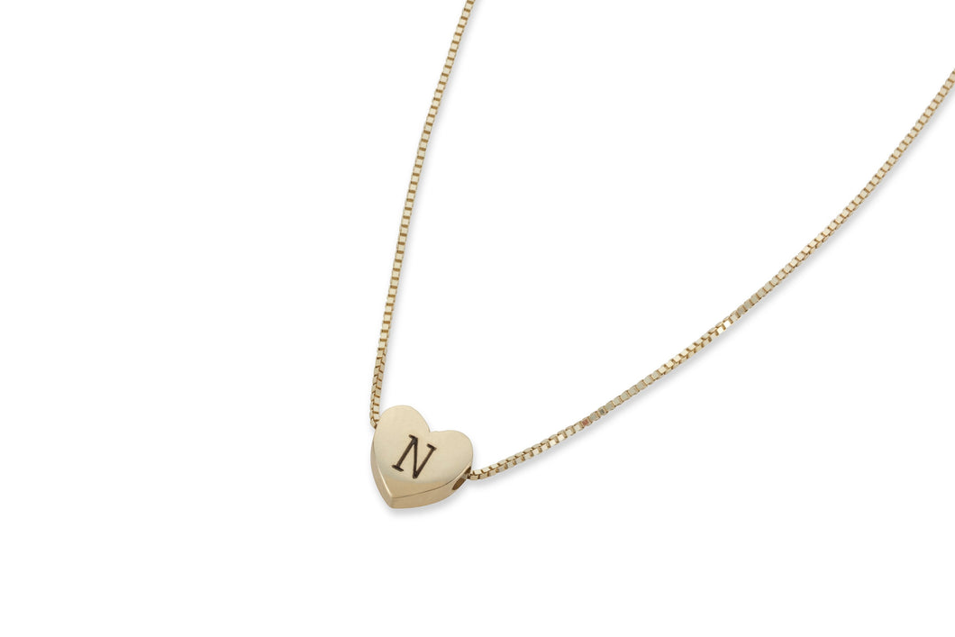 My secret heart necklace - solid gold
