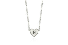 My secret heart necklace - silver with a letter engraving