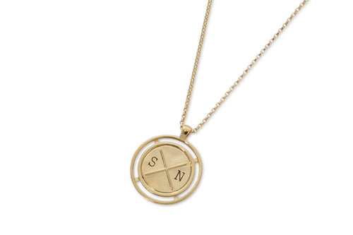 Baby coin necklace with engraving - gold plated