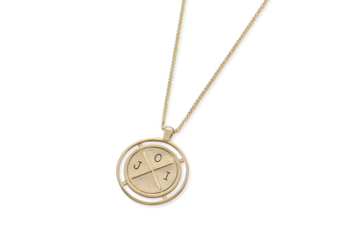 Baby coin necklace with engraving -solid gold