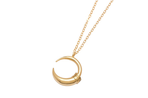 Moon claw necklace - gold plated