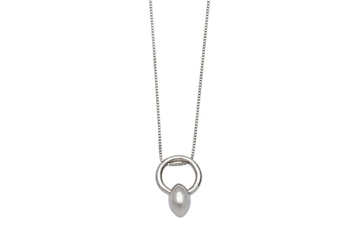 Drop necklace - silver