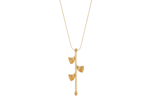 Crowns necklace - gold plated